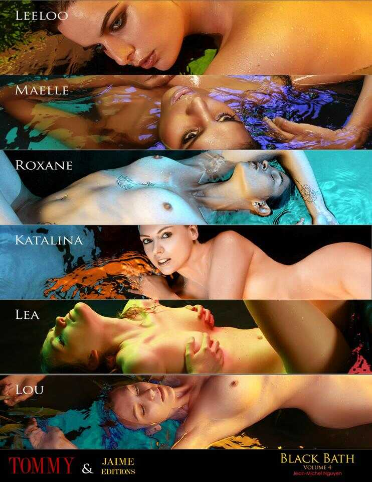 Back cover Leeloo, Maelle, Roxane, Katalina, Lea, Lou Secains - Black Bath