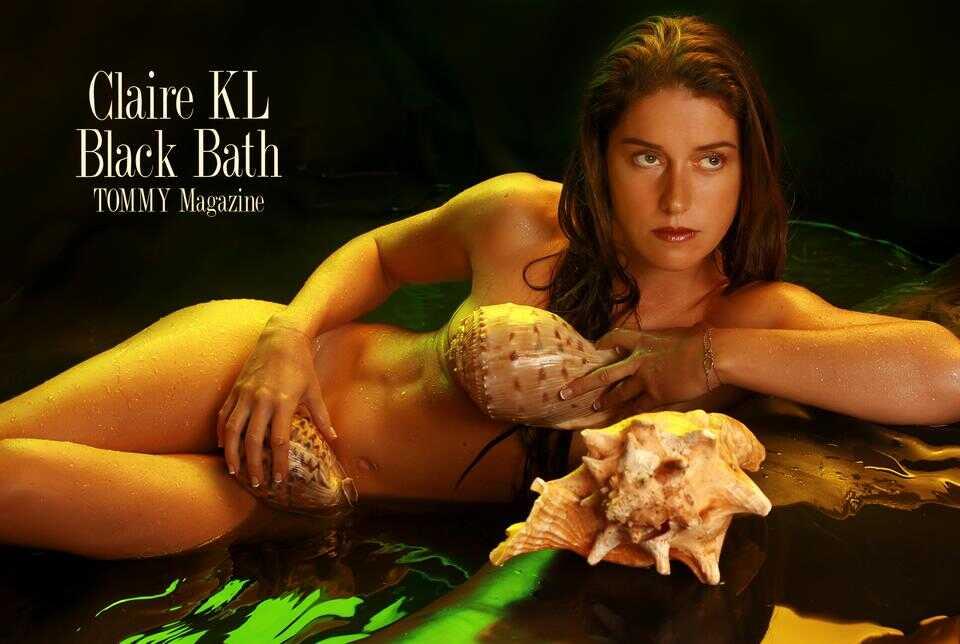claire.kl.black.bath.poster.c poster