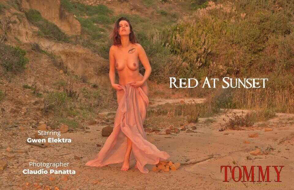Tommy Nude Art - Gwen Elektra - Red At Sunset - Claudio Panatta
