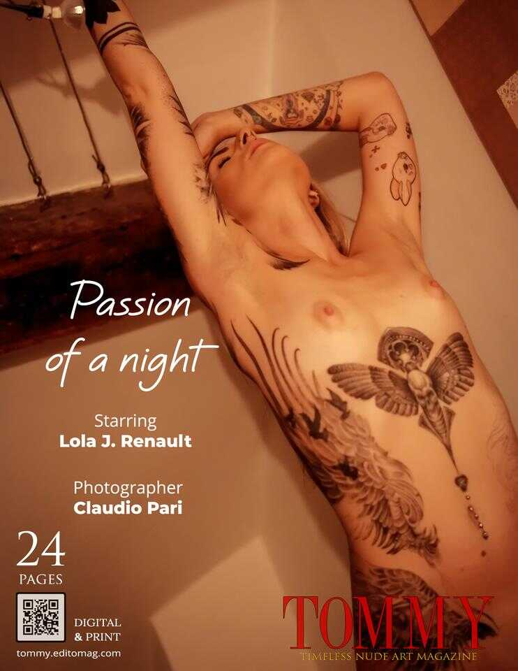 Lola J. Renault  .  Passion of a night - Back Cover